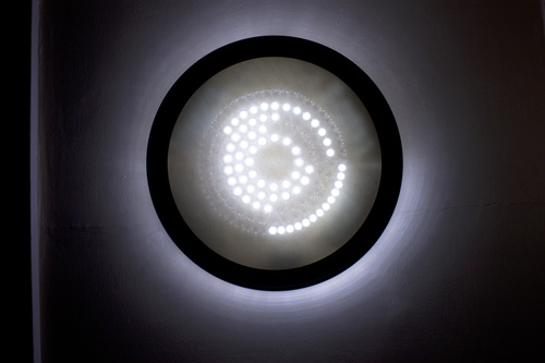 round Orbital Lamp painting